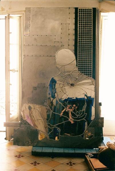 bouddha de métal autoportrait