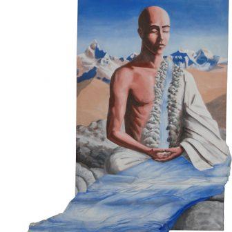 Bouddha de l'eau, peinture de Vivien Lacueille