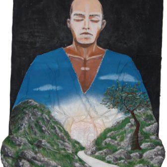 Bouddha de la terre, peinture de Vivien Lacueille