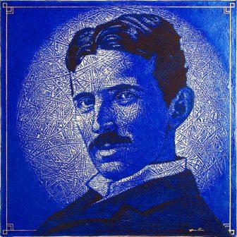 Nikola Tesla, portrait de Vivien Lacueille