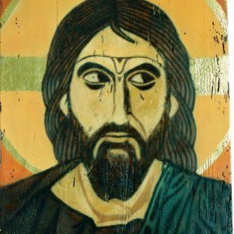 Christ Byzantin, peinture de Vivien Lacueille