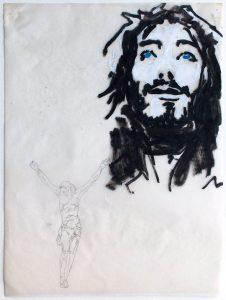 Christ calque, croquis de Vivien Lacueille