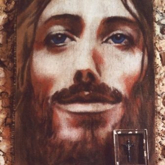 Christ au sourire, peinture de Vivien Lacueille