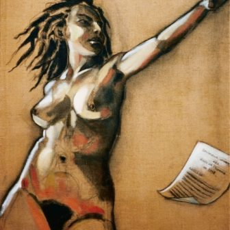 La Déclaration, peinture de Vivien Lacueille