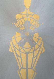 Vénus à l' Enfant de Cristal, pochoir de Vivien Lacueille