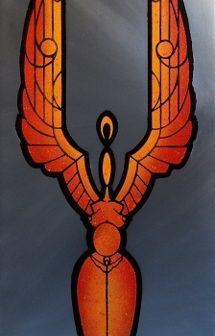L' Ange Vénus, pochoir de Vivien Lacueille