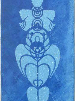 Vénus aux Chakras, pochoir de Vivien Lacueille