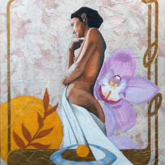 La Fleur, peinture de Vivien Lacueille