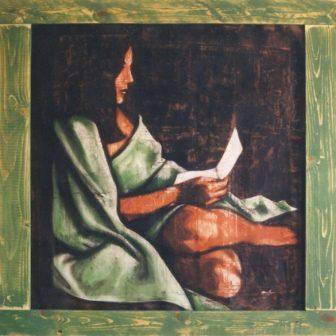 La Lectrice, peinture de Vivien Lacueille
