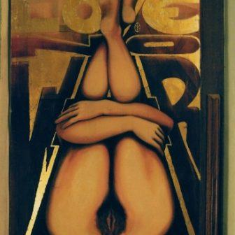 Live Love No War, peinture de Vivien Lacueille