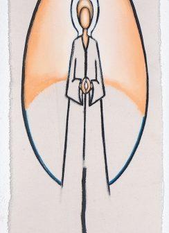 L'Ange Bougie, peinture de Vivien Lacueille