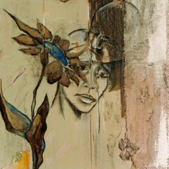 La Fleur Bleue, peinture de Vivien Lacueille