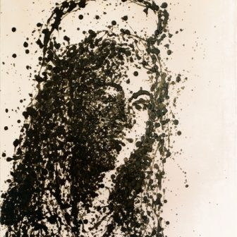 Vierge Dripping, peinture de Vivien Lacueille