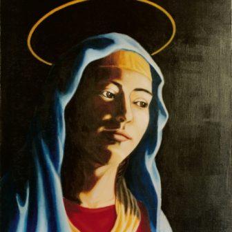 Vierge Renaissance, peinture de Vivien Lacueille